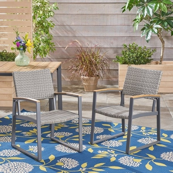 2017 Shop Glasgow Outdoor Dining Chairs With Aluminum Frame (Set Of 2) In Glasgow Dining Sets (View 1 of 20)