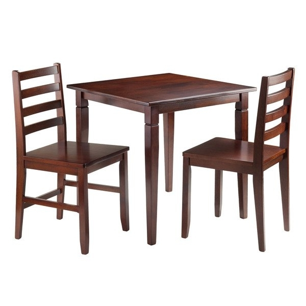 2017 Shop Kingsgate 3 Pc Dining Table With 2 Hamilton Ladder Back Chairs Inside Hamilton Dining Tables (View 2 of 20)