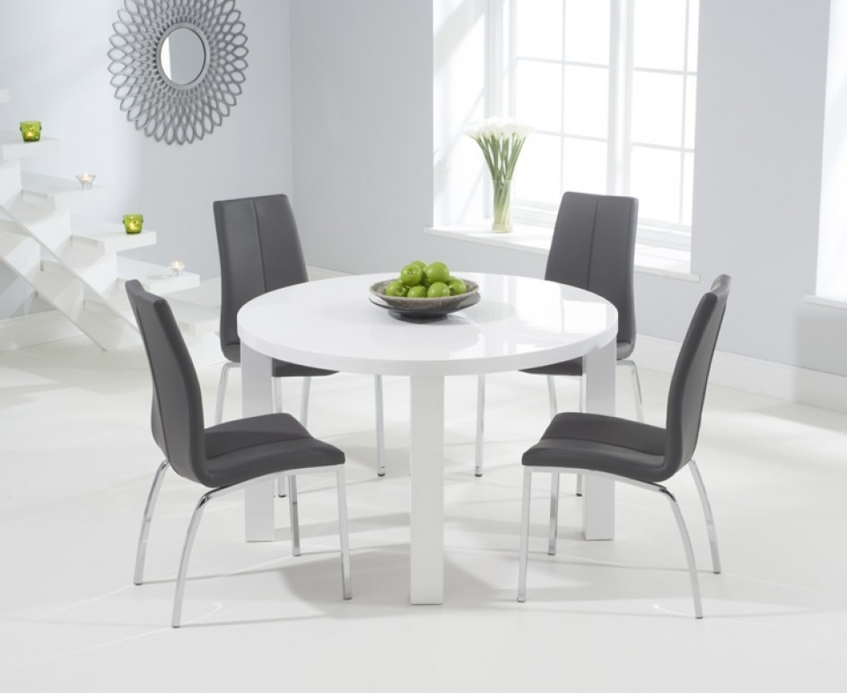 2017 Small Round White Dining Tables Within Round Table Dining Room Set Ideas For 4 – Home Decor Ideas (View 1 of 20)