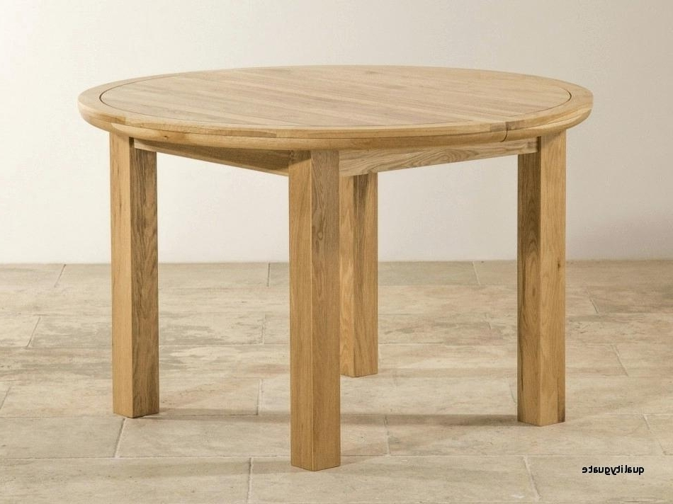 2017 Solid Oak Round Extending Dining Table And 6 Chairs Wood Tables Within Small Square Extending Dining Tables (Gallery 20 of 20)