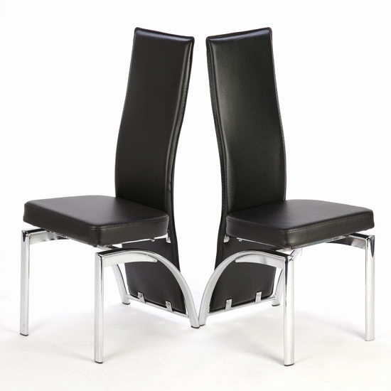 2017 Special Offer!! 2 X Romeo Black Dining Chairs 18985 With Regard To Black Dining Chairs (View 6 of 20)