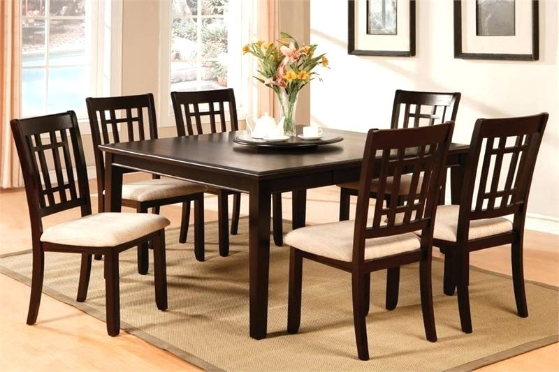 2017 Square Dining Table Set Square Dining Table Set Square Dining Room Pertaining To Square Extendable Dining Tables And Chairs (View 17 of 20)