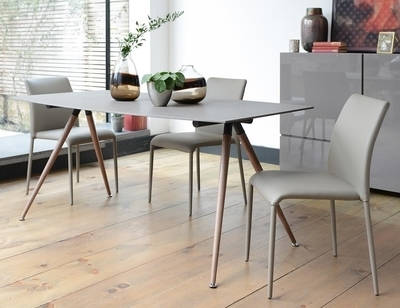 2017 Stone Dining Tables In Point 8 Seater Dining Table Stone Scratch Resistant – Dwell (View 1 of 20)