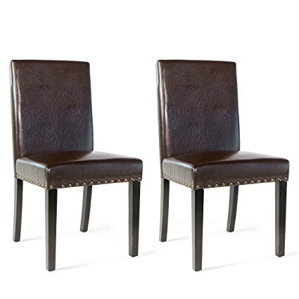 2017 Stylish Dining Chairs With Regard To Amazon – Barton Small Size Leather Stylish Dining Chair (Gallery 3 of 20)