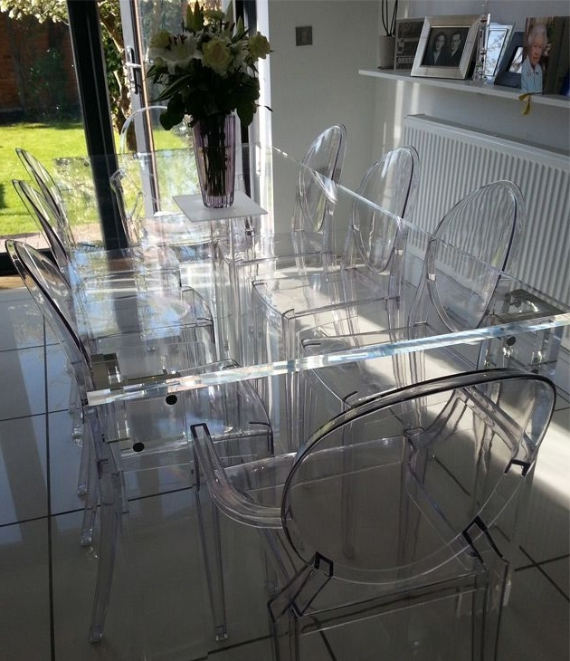 2017 This Table Is Almost Crystalline In Its Clarity, Thanks To Versatile Regarding Acrylic Dining Tables (View 1 of 20)