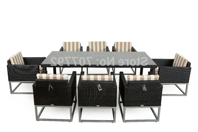 2017 Top Sale Modern Outdoor Rattan Dining Table And Chairs In With Favorite Rattan Dining Tables And Chairs (View 3 of 20)
