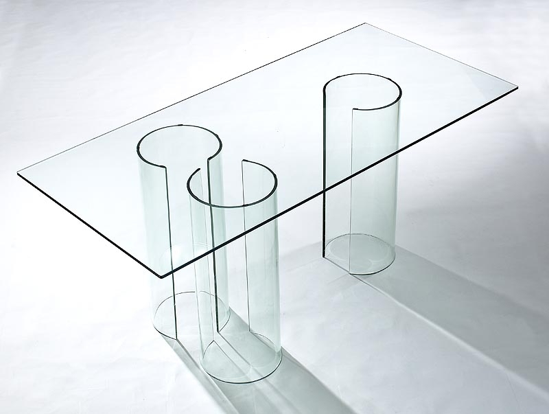 2017 Viva Modern Float Dining Table/desk (Discontinued) Dining Tables Regarding Curved Glass Dining Tables (View 1 of 20)