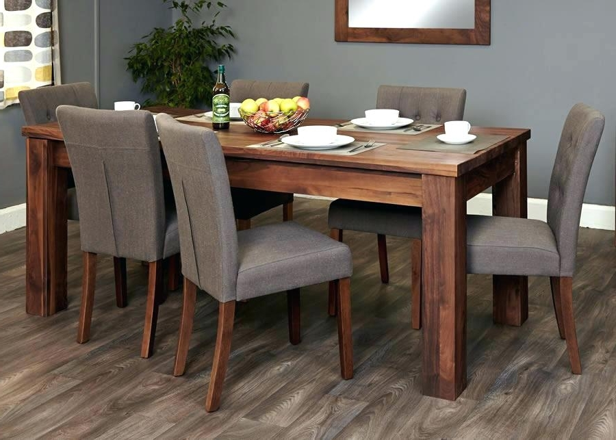 2017 Walnut Dining Table And 6 Chairs 4 Set Brown Amp Oval With Regard To Walnut Dining Table Sets (View 1 of 20)
