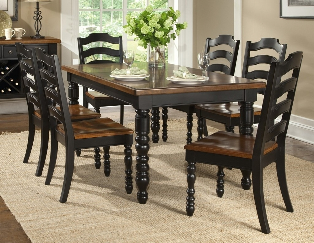 2018 19 Dark Wood Dining Table Set, Furniture: Rustic Wooden Dining Room In Black Wood Dining Tables Sets (View 1 of 20)