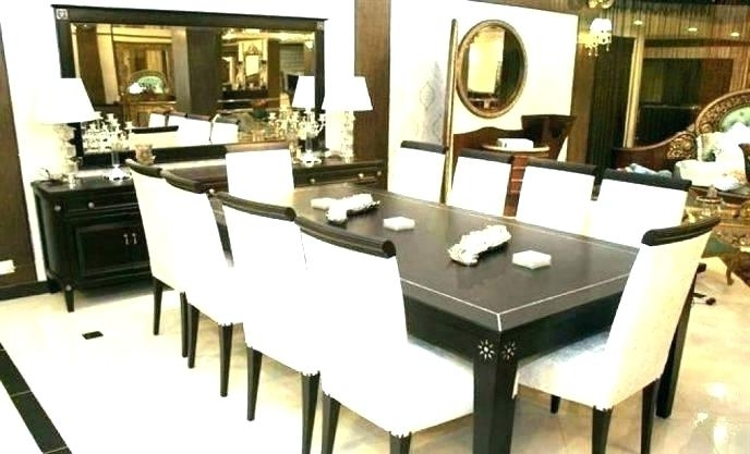 2018 8 Chair Dining Room Set Enthralling 8 Piece Dining Table Chair Bench Intended For 8 Chairs Dining Sets (View 3 of 20)