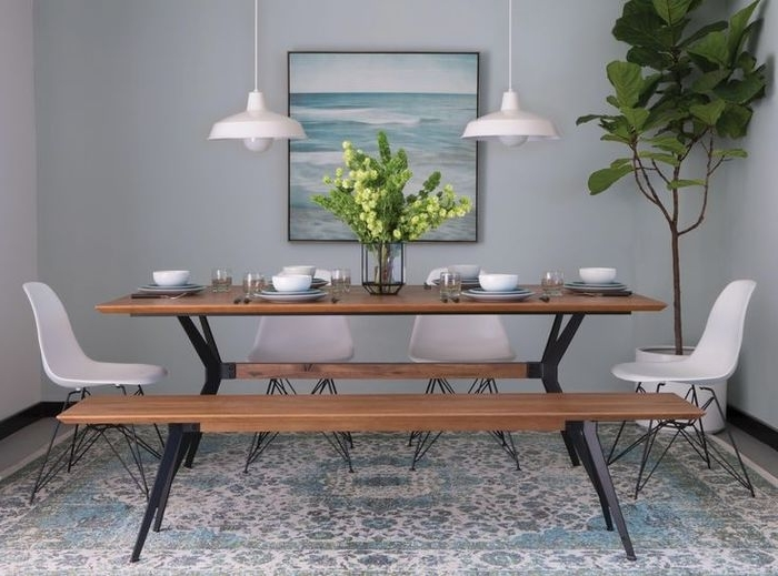 2018 9. Caden 5 Piece Round Dining Set Intended For Caden 5 Piece Round Dining Sets (Gallery 19 of 20)