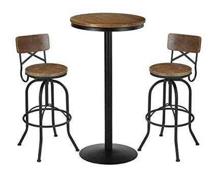 2018 Amazon: Vilavita 3 Piece Bar Table Set (View 19 of 20)
