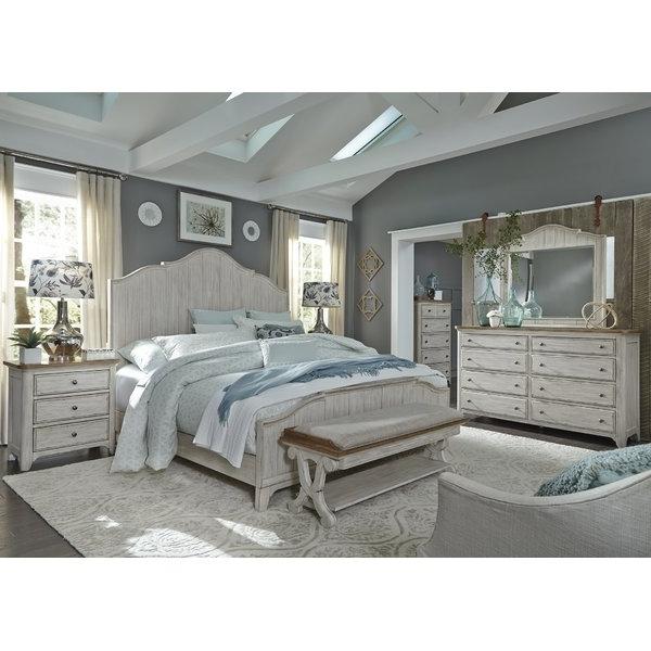 2018 Antique White Bedroom Set (View 2 of 20)