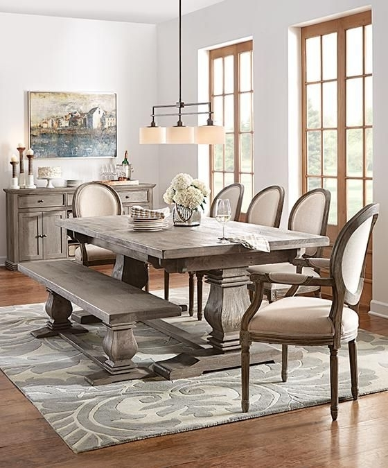 2018 Bale Rustic Grey Dining Tables Pertaining To Dining Tables (View 14 of 20)