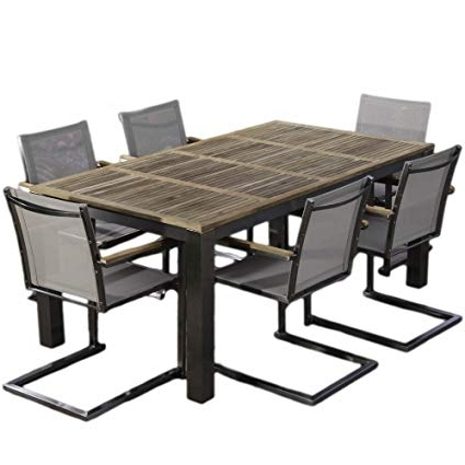 2018 Bali Dining Sets Regarding Amazon : Madbury Road Bali Teak Dining Set : Garden & Outdoor (View 2 of 20)