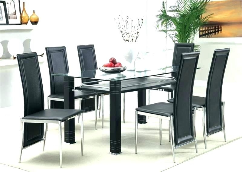 2018 Black Glass Dining Tables And 4 Chairs For Glass Dining Table Set Glass Top Dining Tables Set – Payoneer (View 16 of 20)