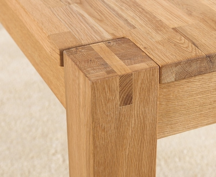 2018 Buy Mark Harris Verona Solid Oak Dining Table – 150Cm Rectangular Within Solid Oak Dining Tables (View 1 of 20)