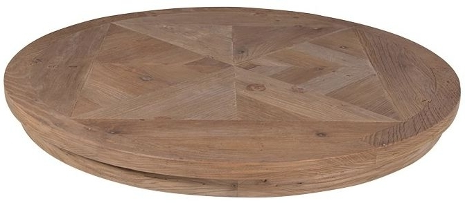 2018 Buy Rustic Pine Parquet Style Round Dining Table – 120cm Online – Cfs Uk Inside Parquet Dining Tables (View 4 of 20)