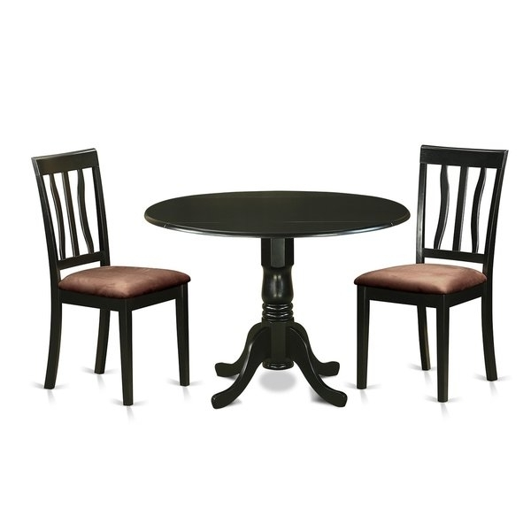 2018 Caden 6 Piece Dining Sets With Upholstered Side Chair In Dlan3 Blk 3 Pc Dinette Table Set Dining Table And 2 Dining Chairs (View 2 of 20)