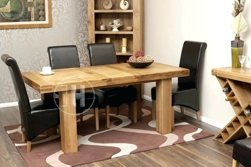 2018 Chunky Solid Oak Dining Tables And 6 Chairs Throughout Chunky Oak Dining Tables Uk Table And Chairs Solid 4 Creative (View 17 of 20)