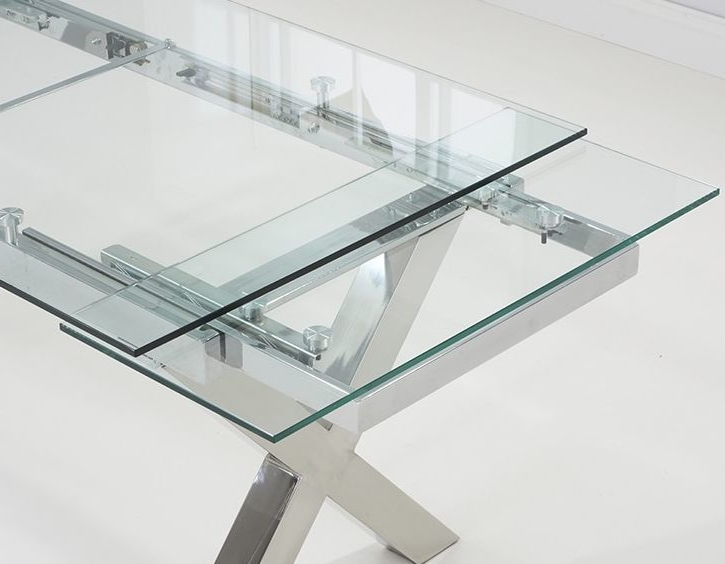 2018 Cilento Glass Extending Dining Table (View 1 of 20)