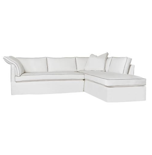 2018 Cisco Brothers Renata Piping Modern Denim White Down Sectional Throughout Nico Grey Sectionals With Left Facing Storage Chaise (View 11 of 15)