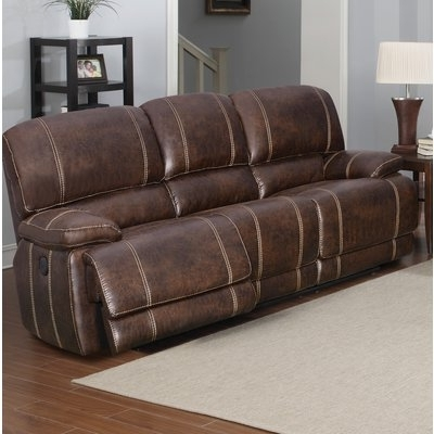 2018 Clyde Saddle 3 Piece Power Reclining Sectionals With Power Headrest & Usb In Loon Peak Oaks Leather Sofa (View 1 of 15)