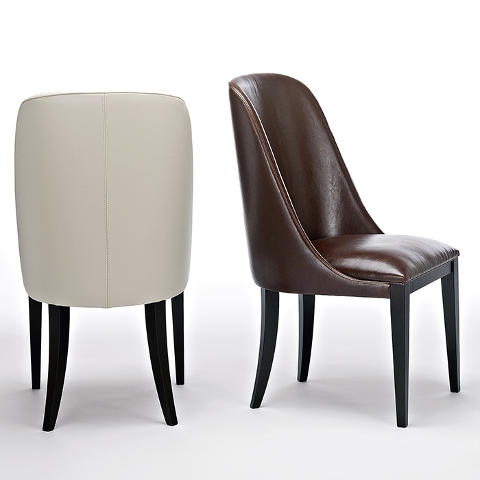2018 Dark Brown Leather Dining Chairs With Flamingo Dark Brown Leather Dining Chairs – Robson Furniture (View 3 of 20)