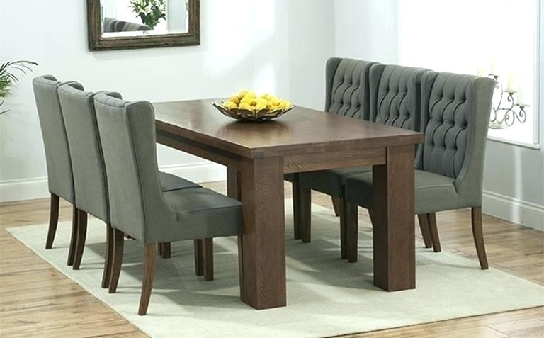 2018 Dark Wooden Dining Tables Throughout Black And White Wood Dining Table Incredible Chairs Chic Dark Room (View 9 of 20)