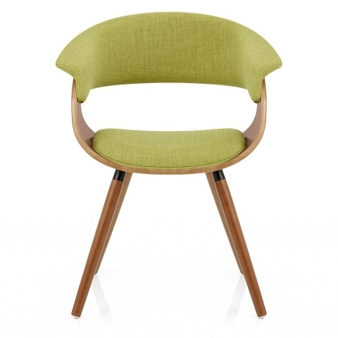 2018 Dining Chairs With Regard To Grafton Dining Chair Walnut & Green – Atlantic Shopping (View 1 of 20)
