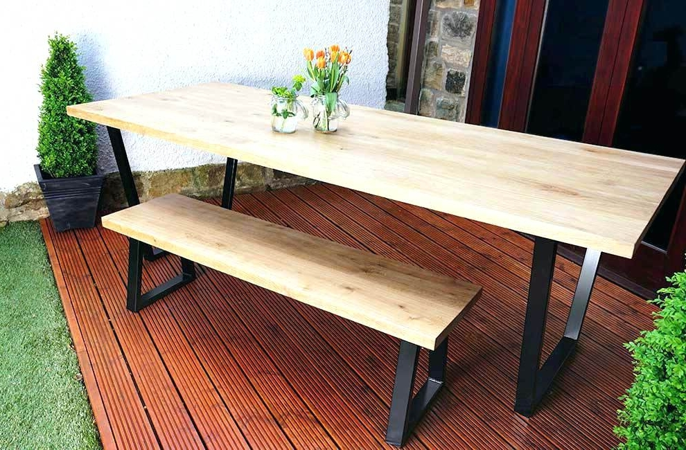 2018 Dining Tables With Metal Legs Wood Top Within Dining Table Metal Legs Wood Top Dining Tables Metal Legs Wood Top (View 2 of 20)