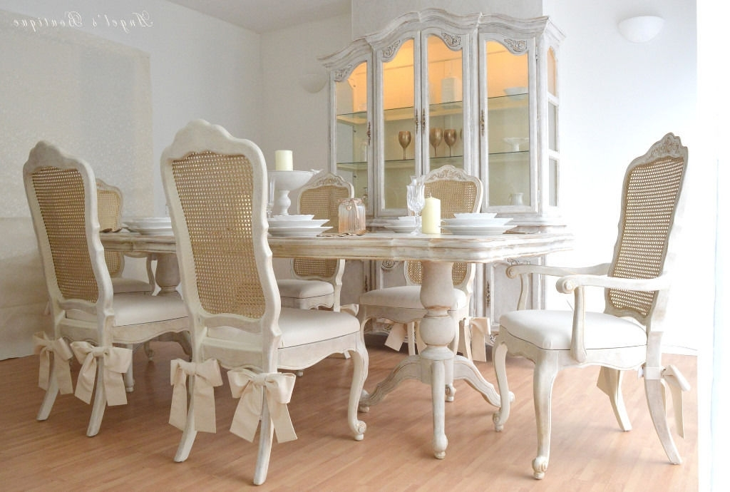 2018 French Chic Dining Tables Intended For Perfect For Christmas ** Unique & Beautiful ** French Shabby Chic (View 1 of 20)