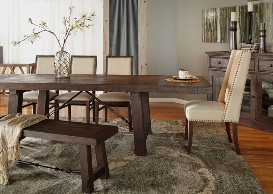 "2018 Java Dining Tables In Rectangle 116.5"" Length Rustic Java Sandblasted Dining Table (Gallery 10 of 20)"