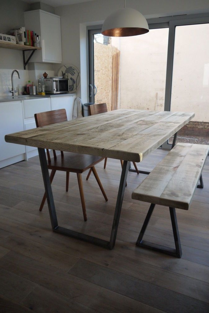 2018 John Lewis Calia Style Vintage Industrial Reclaimed Plank Top Dining For Industrial Style Dining Tables (View 1 of 20)
