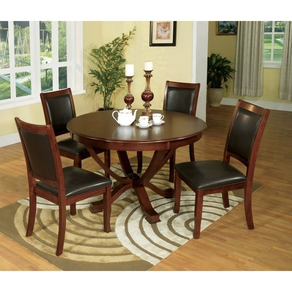 2018 Kirsten 5 Piece Dining Sets With Shop Furniture Of America Kristen 5 Piece Brown Cherry Dining Set (Gallery 3 of 20)