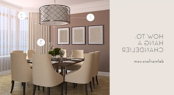 2018 Lamp Over Dining Tables Throughout What Size Dining Room Chandelier Do I Need? A Sizing Guide From (View 3 of 20)