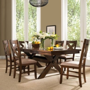 2018 Laurent 7 Piece Rectangle Dining Sets With Wood And Host Chairs Regarding Lansford 7 Pc (View 1 of 20)
