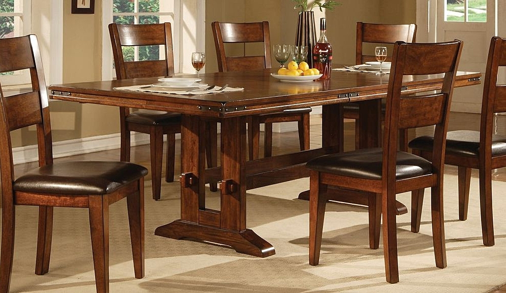 2018 Lavista Dining Table In Dark Oak (View 2 of 20)