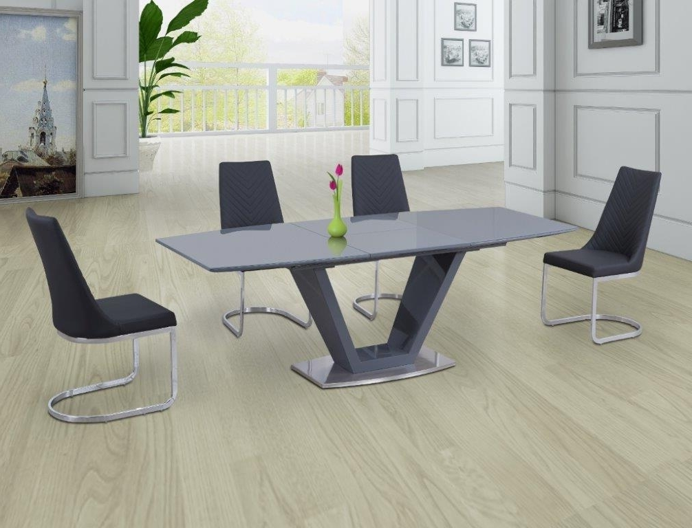 2018 Levanto Grey Extending Dining Table – Modish Furnishing Pertaining To Grey Dining Tables (View 1 of 20)