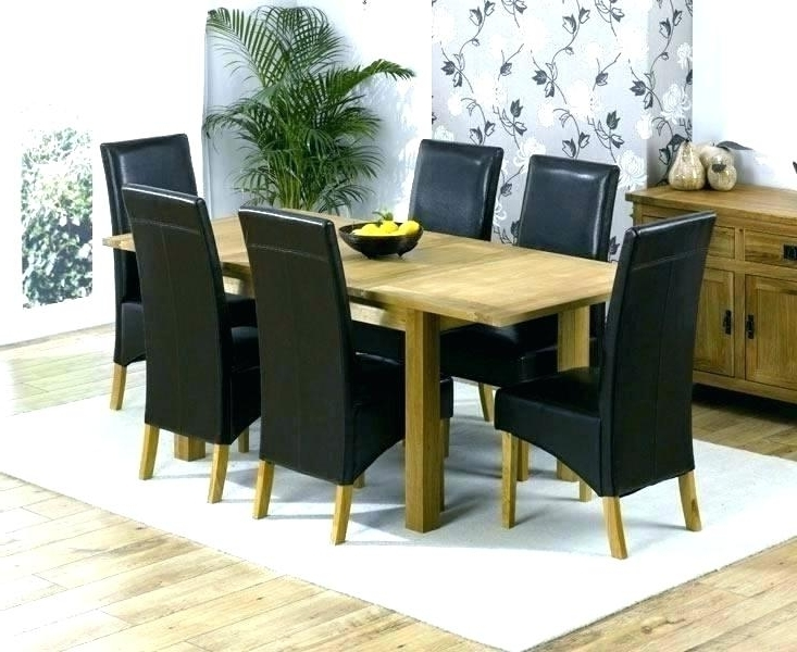 2018 Oak Chairs For Dining Table Bob Solid Oak In Round Dining Table W 6 Intended For Oak Dining Tables With 6 Chairs (Gallery 10 of 20)