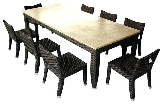 2018 Outdoor Dining Sets For 8 8 Garden Table 8 Seat Outdoor Dining Table With 8 Seat Outdoor Dining Tables (View 7 of 20)