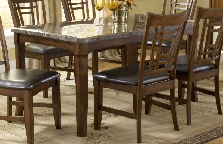 2018 Patterson 6 Piece Dining Sets With Creative Home Design. Appealing Marble Top Dining Table Highest (Gallery 16 of 20)