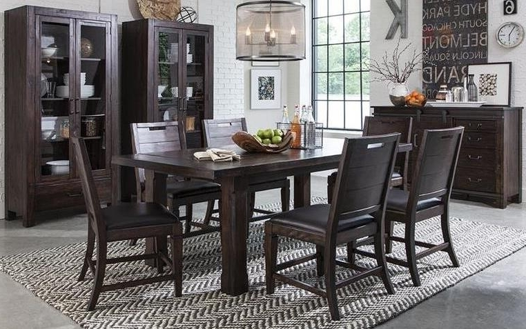 2018 Pine Hill Warm Rustic Pine Extendable Rectangular Dining Room Set Within Bale Rustic Grey Dining Tables (View 4 of 20)