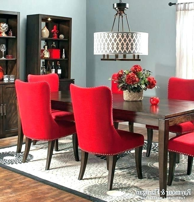 2018 Red Dining Tables And Chairs With Regard To Red Dining Table And Chairs Fantastic Red Dining Table Set Red (View 2 of 20)