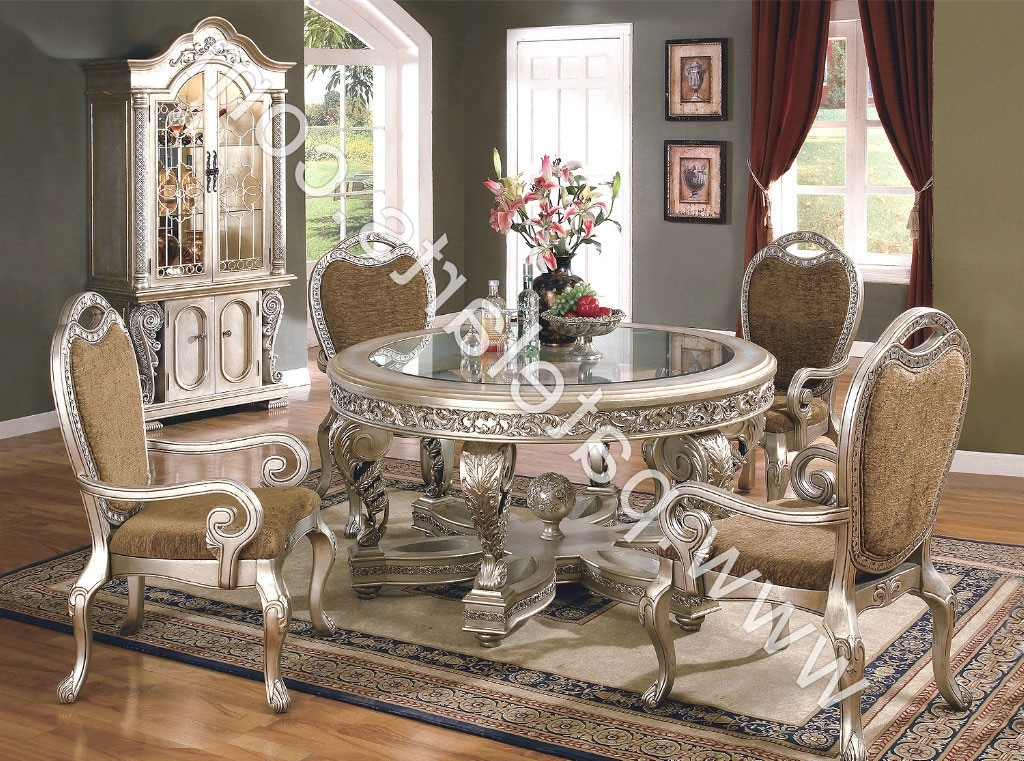 2018 Royal Dining Tables Inside Silver Dining Set, Dining Table, Silver Dining Sets, Manufacturers (View 16 of 20)
