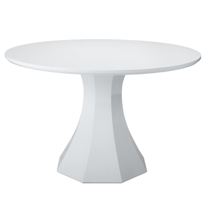 2018 Sanara High Gloss White Round Dining Table (View 16 of 20)