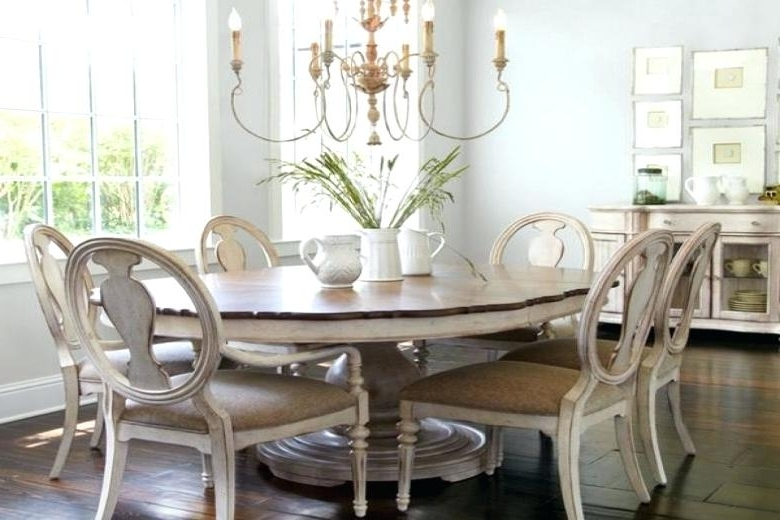 2018 Shabby Dining Tables And Chairs Throughout Remarkable Shabby Chic Dining Room Tables Chairs For Sale White (View 11 of 20)