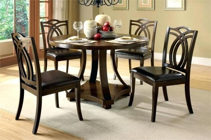 2018 Small Dark Wood Dining Tables Throughout Circular Dark Wood Dining Table Circle Round Wooden Coffee With (View 2 of 20)