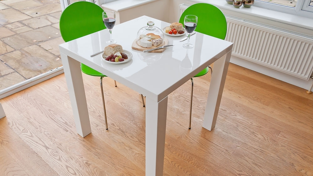 2018 Small White Dining Tables Regarding Small White Dining Table Set – Castrophotos (Gallery 10 of 20)