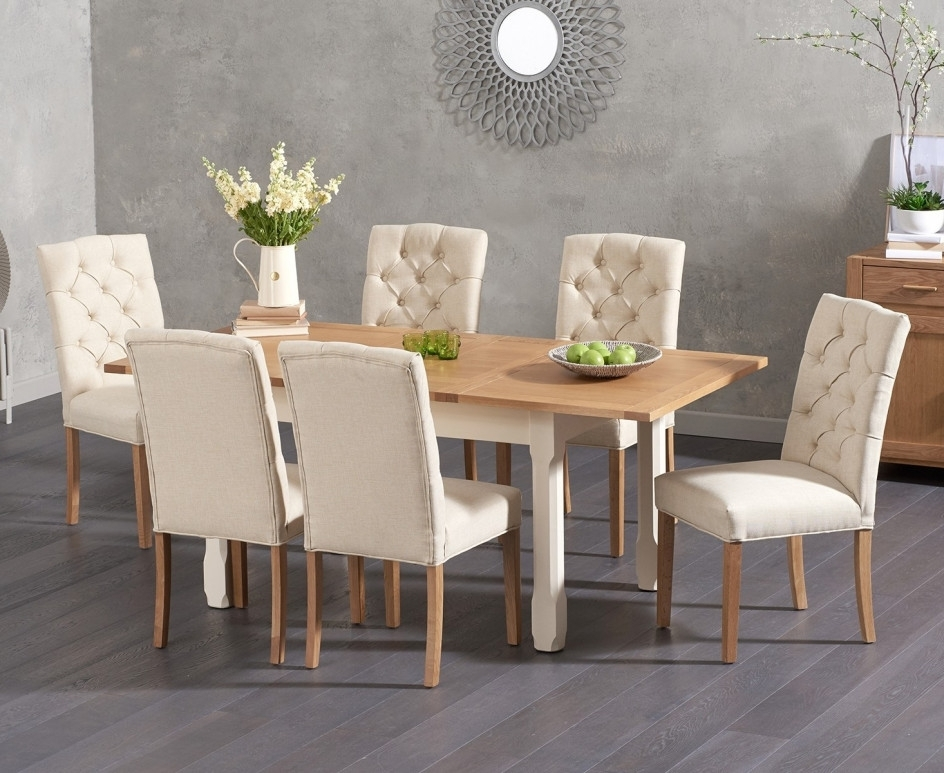 2018 Somerset 130Cm Oak And Cream Extending Dining Table With Candice Pertaining To Candice Ii 7 Piece Extension Rectangle Dining Sets (View 4 of 20)